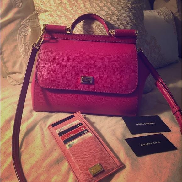 Dolce   Gabbana Handbags - Pink Dolce   Gabbana Miss Sicily, wallet    receipt a7fcf4ae4f